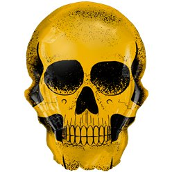 "Gold Skull Supersize Foil Balloon - 36"" Foil"