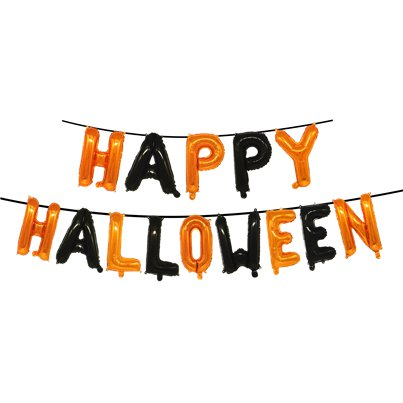 "Happy Halloween Letter Balloons - 13"" Foil"