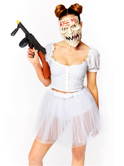 Kiss Me Accessory Kit - Mask, Tutu, Fake Gun, Fake Blood