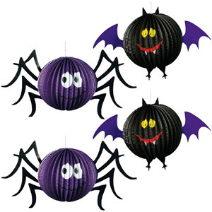 Honeycomb Spider & Bat Hanging Multipack