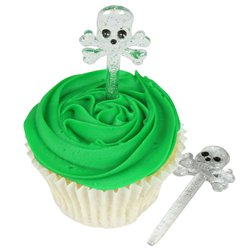 Skull & Crossbones Food Picks - 7.6cm