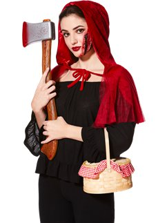 Red Riding Hood Accessory Kit - Cape, Axe & Scar