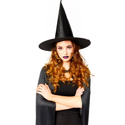 Witch Accessory Kit - Hat, Broom, Cape - Halloween Fancy Dress Costume back