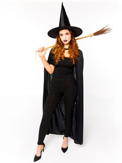 Witch Accessory Kit - Hat, Broom, Cape