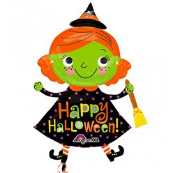 Cute Witch Balloon - 37'' Foil
