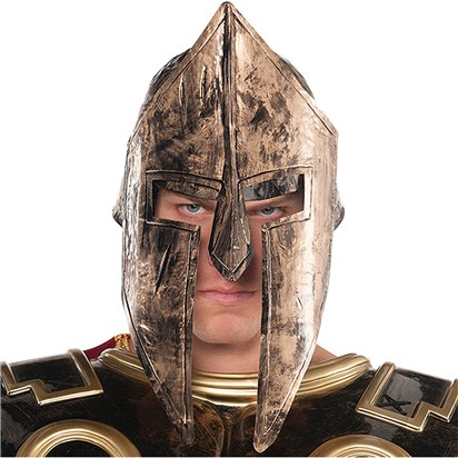 Spartan Helmet - Men's Gladiator Helmet Fancy Dress Costume Accessories front