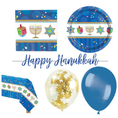 Hanukkah Party Pack - Deluxe Pack for 18
