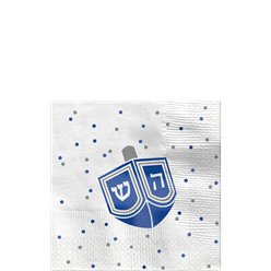 Happy Hanukkah Beverage Napkin - 25cm