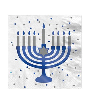Happy Hanukkah Luncheon Napkins - 33cm