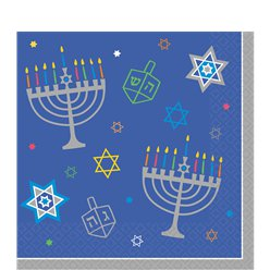 Hanukkah Paper Party Napkins - 33cm