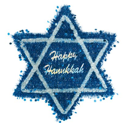 Hanukkah Tinsel Star of David - 52.5cm