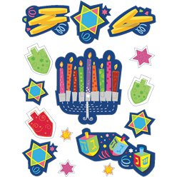 Hanukkah Vinyl Window Decorations