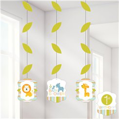 Happi Jungle Hanging Cutout Decorations - 91cm