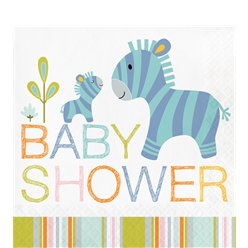 Happi Jungle Baby Shower Paper Napkins - 33cm