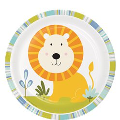Happi Jungle Lion Dessert Plates - 18cm Paper Party Plates