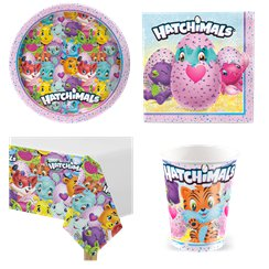 HATCHIMALS HAPPY BIRTHDAY BANNER Party Supplies Hanging Decoration Purple Pink
