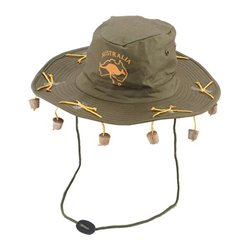 Australian Hat with corks (Hats and Head Wear)
