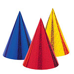 Prismatic Cone Party Hats