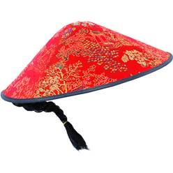 Oriental Fabric Coolie Hat