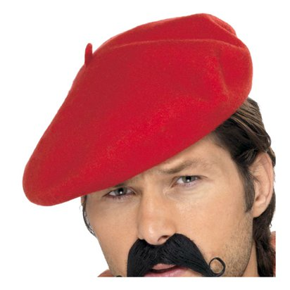 Beret - Red - Fancy Dress Hats right