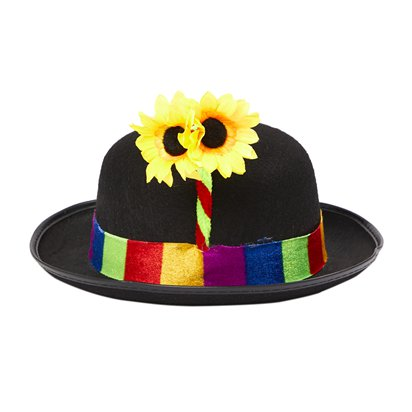 Clown Bowler Hat - Circus Fancy Dress Costume Accessories front