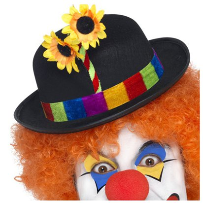 Clown Bowler Hat - Circus Fancy Dress Costume Accessories right