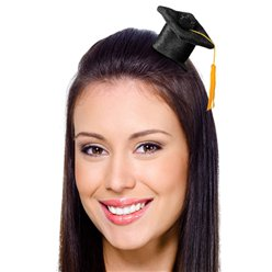 Mini Graduation Cap Hair Clip