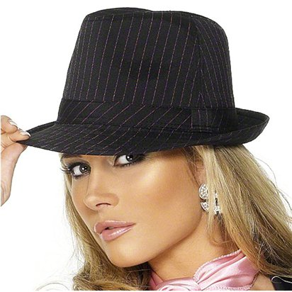 Trilby Gangster Hat - Fedora Hats - Women's Gangster Fancy Dress Costume Accessories right