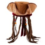 Tricorn Pirate Hat with Attached Dreadlocks