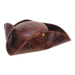 Pirate Brown Tricorn Hat