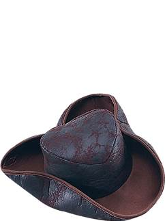 Brown Tricorn Pirate Hat