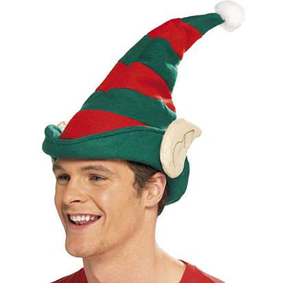 Elf Hat with Ears - Adult Christmas Hat - One Size front