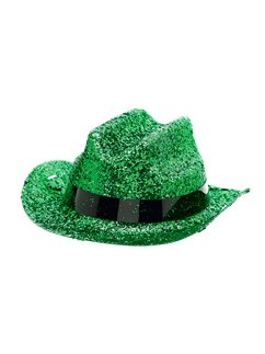 Green Glitter Mini Glitter Cowboy Hat