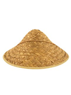 Oriental Straw Coolie Hat