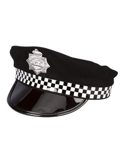 Policeman Hat - Black