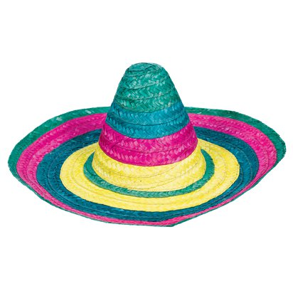 Multicoloured SombreroHat - Mexican Hat - Adult's Mexican Fancy Dress Costume Accessories front