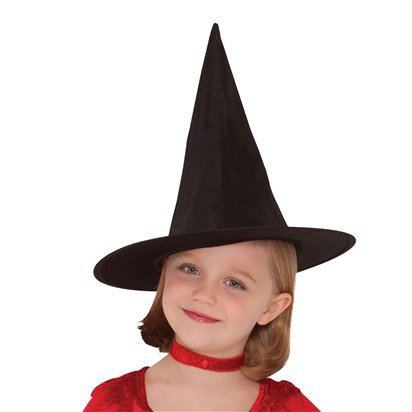 Classic Witches Hat - Girl's Halloween Hat - 28cm tall back