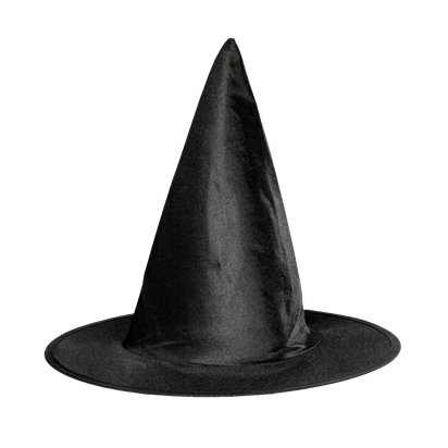Classic Witches Hat - Girl's Halloween Hat - 28cm tall front
