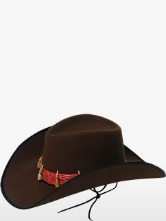 3d5abc16bf734 Brown Cowboy Hat with Teeth