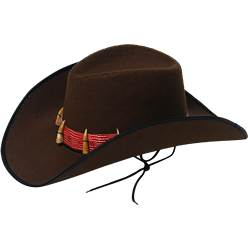 Brown Cowboy Hat with Teeth