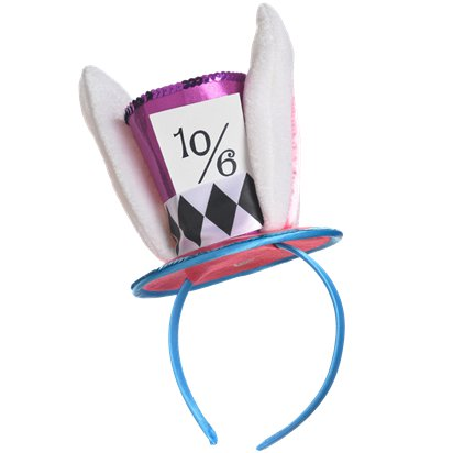 Mad Hatter Mini Headband - Fancy Dress Hats front