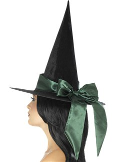 Deluxe Green Witch Hat