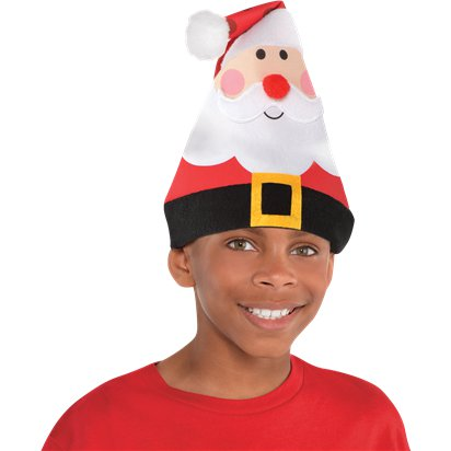 Whimsical Santa Hat - Kids Christmas Hat - One Size front