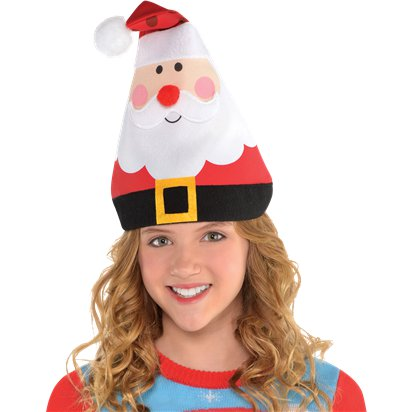Whimsical Santa Hat - Kids Christmas Hat - One Size left