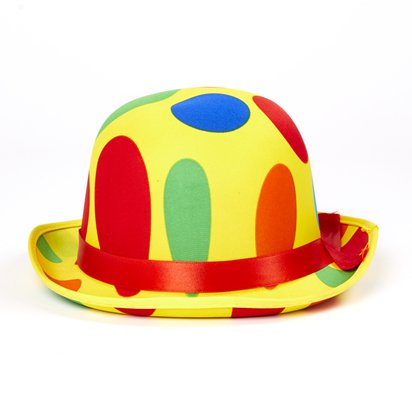 Dotted Clown Hat - Adult Circus Fancy Dress Costume Accessories back