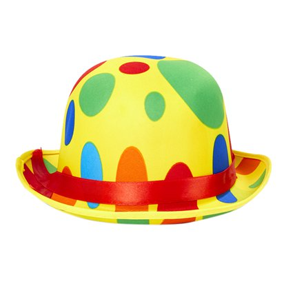 Dotted Clown Hat - Adult Circus Fancy Dress Costume Accessories front