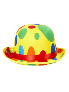 Clown Dotted Bowler Hat