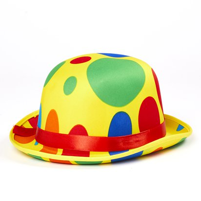 Dotted Clown Hat - Adult Circus Fancy Dress Costume Accessories left