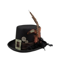 Steampunk Plume Hat