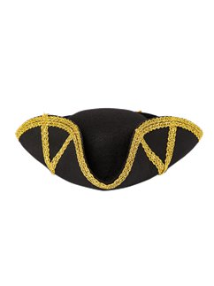 Black & Gold Pirate Lady Hat